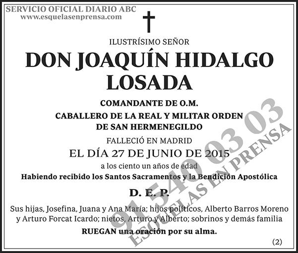 Joaquín Hidalgo Losada